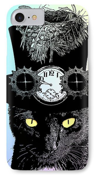 Mad Hatter Cat IPhone Case