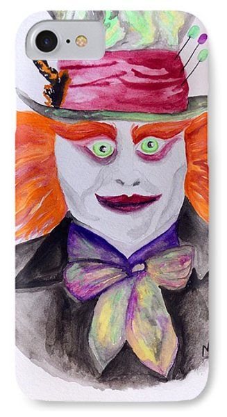 Mad Hatter IPhone Case by Maria Urso