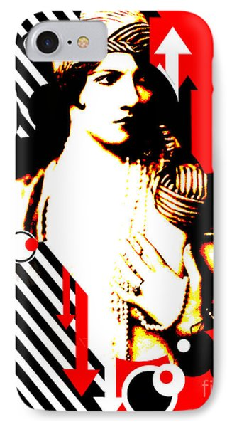 Madam Stripe Phone Case by Chris Andruskiewicz