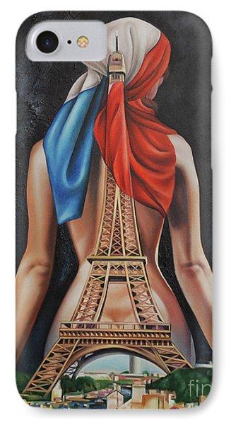Madame Eiffel IPhone Case by Jorge L Martinez Camilleri