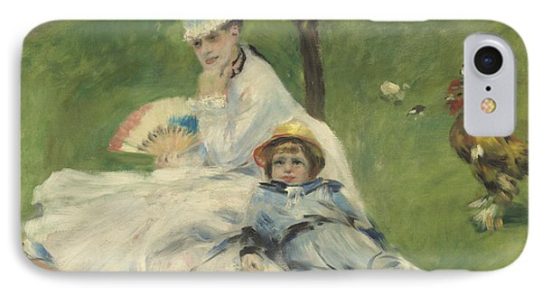 Madame Monet And Her Son IPhone Case by Pierre Auguste Renoir
