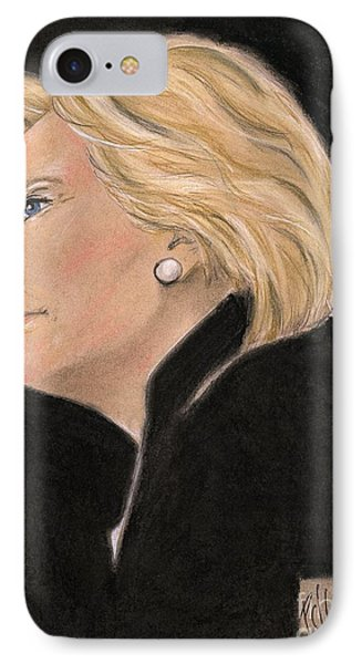 Madame President IPhone Case by P J Lewis