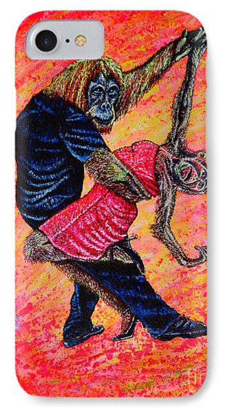 IPhone Case featuring the painting Madame... by Viktor Lazarev