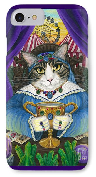 IPhone Case featuring the painting Madame Zoe Teller Of Fortunes - Queen Of Cups by Carrie Hawks