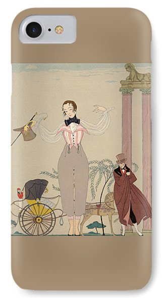 Mademoiselle De Maupin IPhone Case by Georges Barbier
