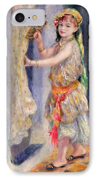 Mademoiselle Fleury In Algerian Costume IPhone Case by Pierre Auguste Renoir