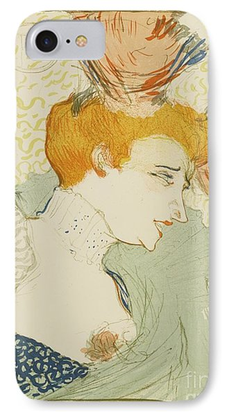 Mademoiselle Marcelle Lender IPhone Case by MotionAge Designs