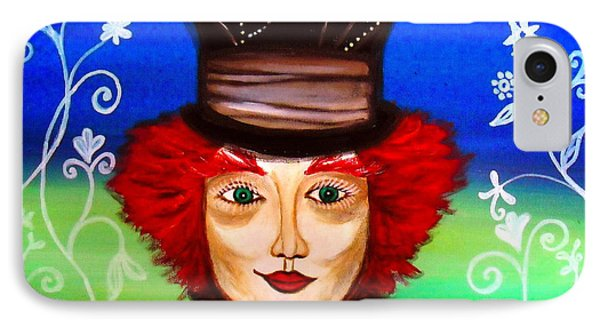IPhone Case featuring the painting Madhatter by Pristine Cartera Turkus