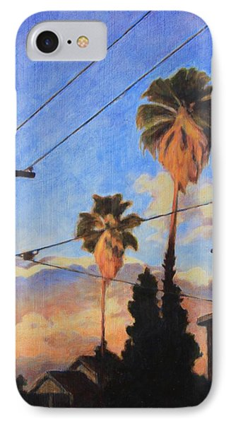 IPhone Case featuring the painting Madison Ave Sunset by Andrew Danielsen