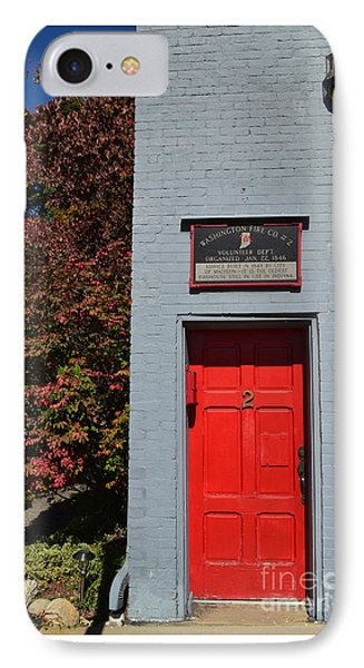 Madison Red Fire House Door IPhone Case