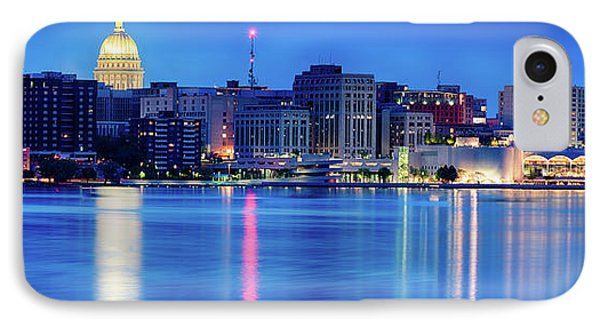Capitol Building iPhone 7 Case - Madison Skyline Reflection by Sebastian Musial