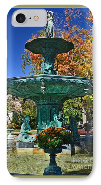Madison Water Fountain In Fall IPhone Case