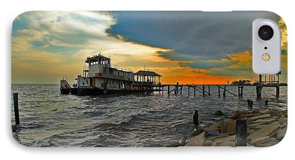 Madisonville Katrina Ghost Boat  IPhone Case by Luana K Perez