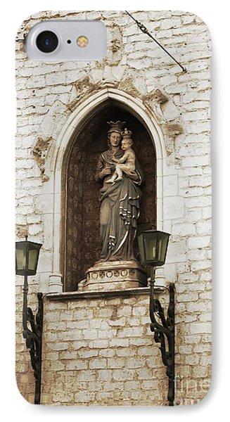 Madonna And Child Alcove Statue In  Belgium IPhone Case