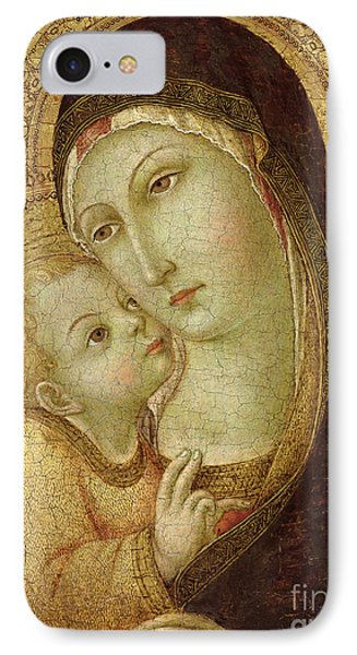 Madonna And Child IPhone Case by Ansano di Pietro di Mencio