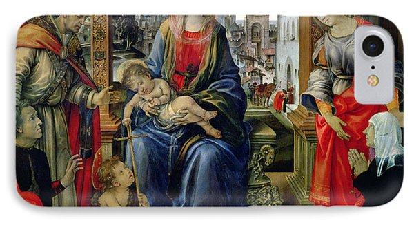 Madonna And Child IPhone Case by Filippino Lippi