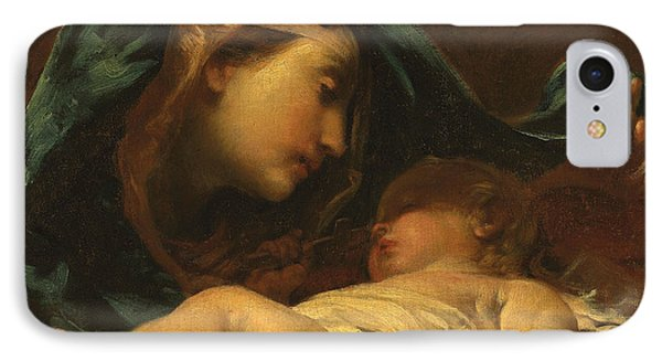 Madonna And Child IPhone Case by Giuseppe Maria Crespi