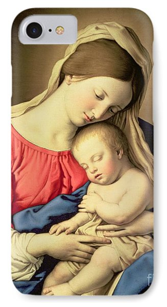 Madonna And Child IPhone Case by Il Sassoferrato