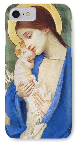 Madonna And Child IPhone Case by Marianne Stokes