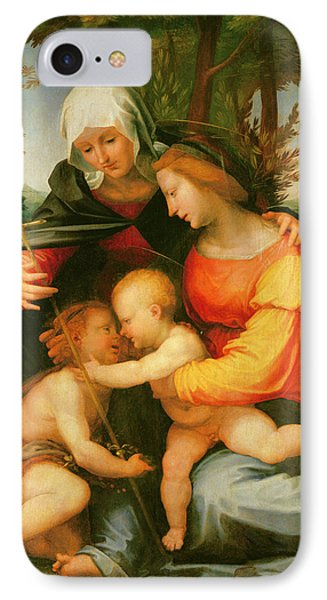 Madonna And Child  Saint Elizabeth And The Infant Saint John The Baptist IPhone Case