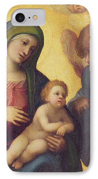 Madonna And Child With Angels Phone Case by Correggio
