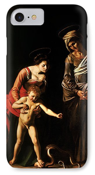 Madonna And Child With St. Anne IPhone Case by Caravaggio
