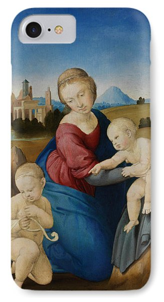 Madonna And Child With The Infant Saint John IPhone Case by Raphael