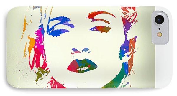 Madonna Color Paint Splatter IPhone Case by Dan Sproul