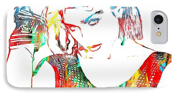 Madonna Watercolor IPhone Case by Dan Sproul