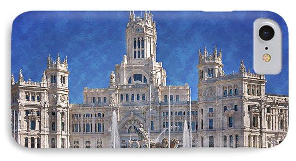 Madrid City Hall Phone Case by Joan Carroll