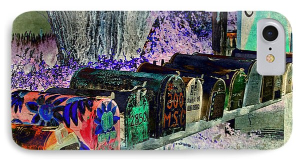 Madrid Mailboxes IPhone Case by Jill Smith