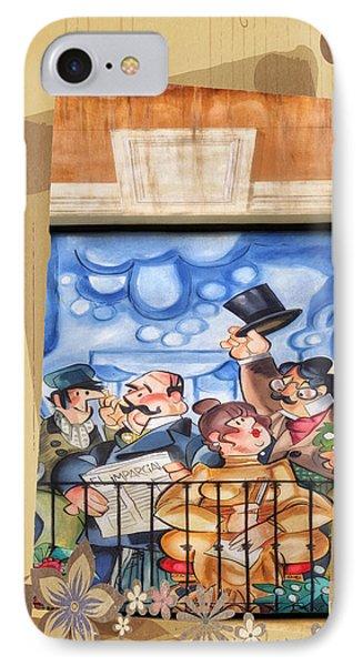 Madrid Wall Art Phone Case by Joan Carroll