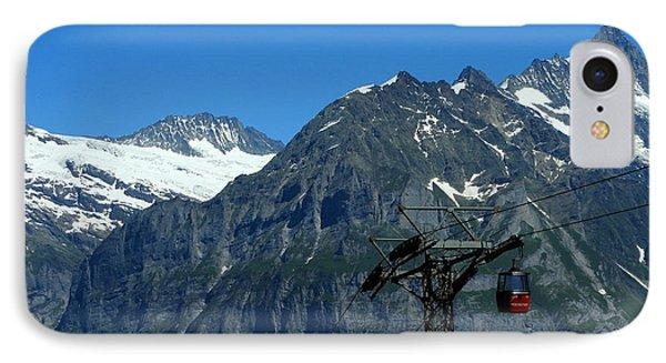 Maennlichen Gondola Calbleway, In The Background Mettenberg And Schreckhorn IPhone Case