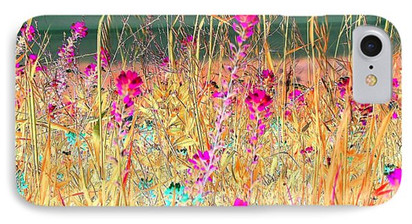 IPhone Case featuring the photograph Magenta Bluebonnets by Ellen O'Reilly