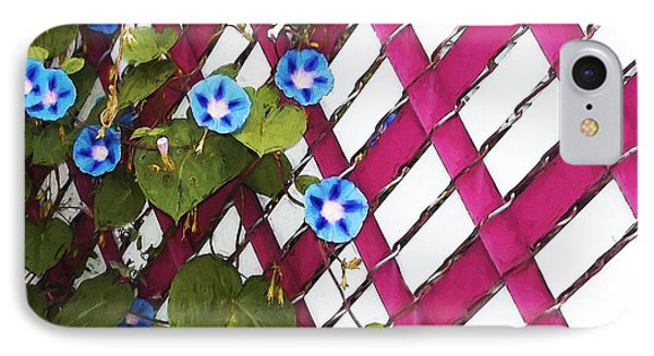 IPhone Case featuring the photograph Magenta Chain-link by Shawna Rowe