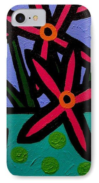 Magenta Flowers IPhone Case by John  Nolan
