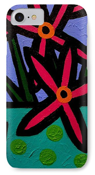Magenta Flowers Phone Case by John  Nolan