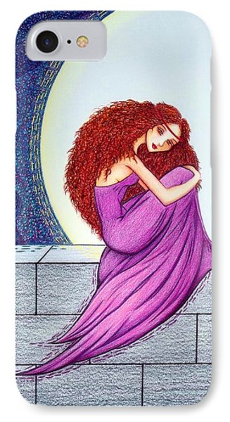IPhone Case featuring the drawing Maggie's Lullaby by Danielle R T Haney