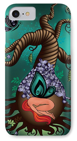 Magic Butterfly Tree IPhone Case by Serena King