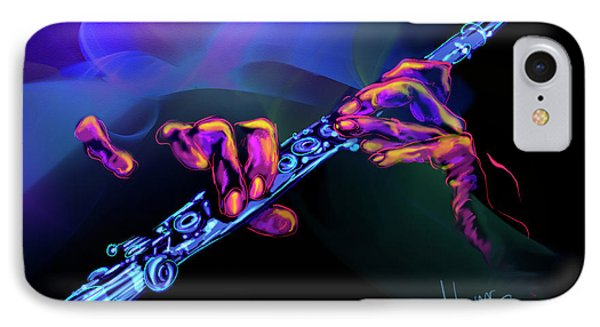 IPhone Case featuring the painting Magic Flute by DC Langer