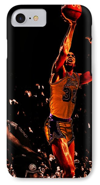 Magic Johnson Lean Back II IPhone 7 Case by Brian Reaves