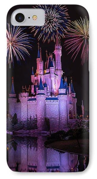 Magic Kingdom Castle Under Fireworks IPhone Case
