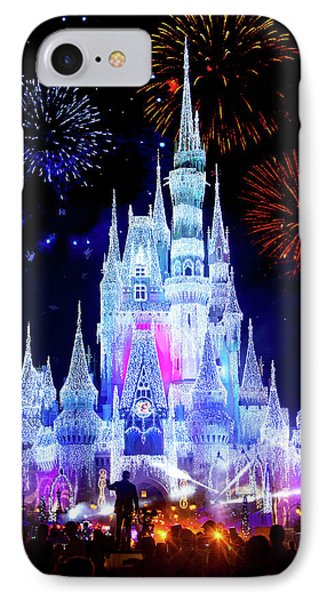 Magic Kingdom Fireworks IPhone Case by Mark Andrew Thomas