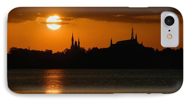 Magic Kingdom Sunset IPhone Case by David Lee Thompson