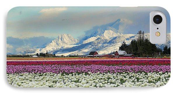Magic Landscape 1 - Tulips Phone Case by Rick Lawler
