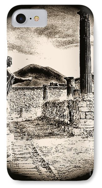 IPhone Case featuring the photograph Magic Lantern Pompeii by Nigel Fletcher-Jones
