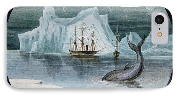 Magic Lantern Slides Of Arctic Exploration IPhone Case by MotionAge Designs