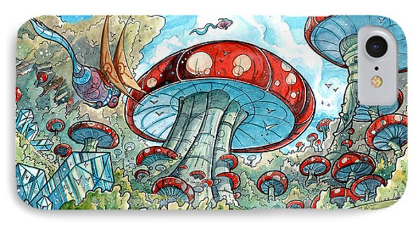 Magic Mushroom Forest Painting By Luis Peres