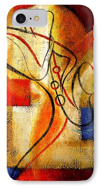 Magic Saxophone IPhone Case by Leon Zernitsky