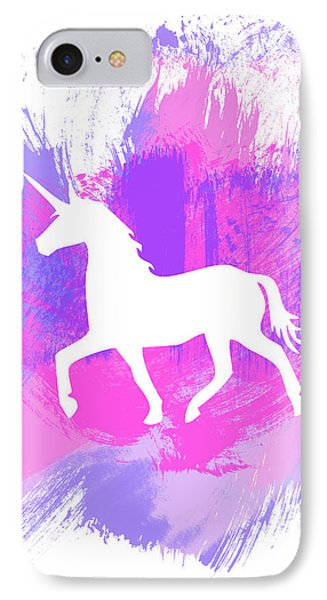 Magician iPhone 7 Case - Magic Unicorn 1- Art By Linda Woods by Linda Woods